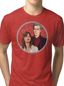 The Twelfth Doctor and Clara Oswald Tri-blend T-Shirt