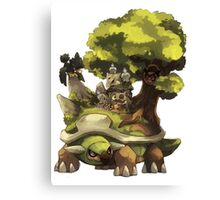 marowak ghost dep on torterra's back Canvas Print