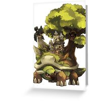 marowak ghost dep on torterra's back Greeting Card