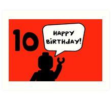 Happy 10th Birthday Greeting Card Art Print