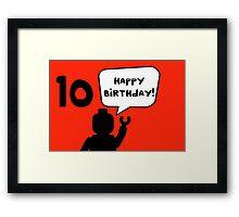 Happy 10th Birthday Greeting Card Framed Print