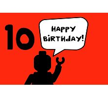 Happy 10th Birthday Greeting Card Photographic Print