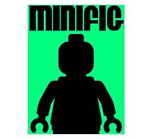 Retro Large Black Minifig, Customize My Minifig Photographic Print