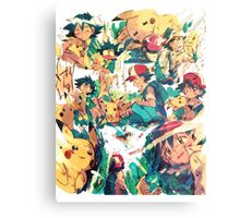 pikachu and ash 4ever friends Metal Print