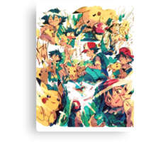 pikachu and ash 4ever friends Canvas Print