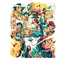 pikachu and ash 4ever friends Photographic Print