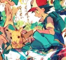 pikachu and ash 4ever friends Sticker