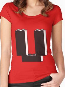 THE LETTER U Women's Fitted Scoop T-Shirt