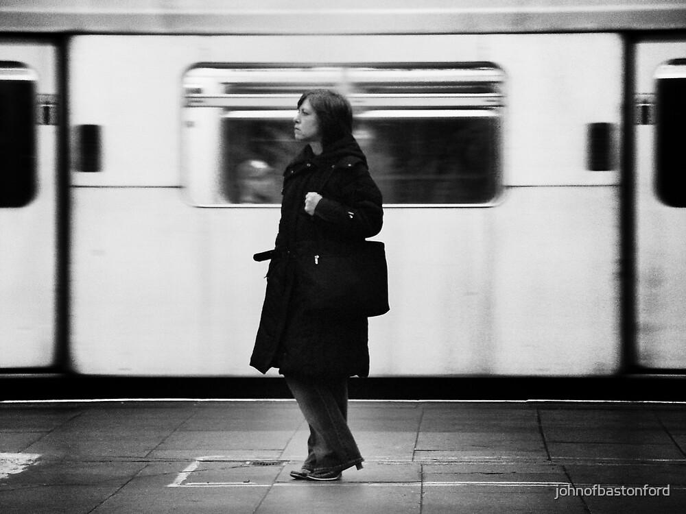Girl on the London Underground by johnofbastonford