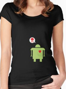 Robot Love Women's Fitted Scoop T-Shirt