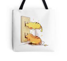 pikachu and raichu in a plug lol Tote Bag