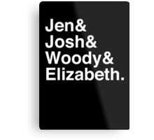 Jen & Josh & Woody & Elizabeth. (inverse) Metal Print
