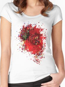 Abstract Garbage Women's Fitted Scoop T-Shirt