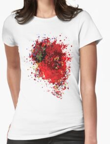 Abstract Garbage Womens Fitted T-Shirt