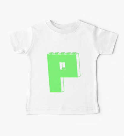 THE LETTER P, Customize My Minifig Baby Tee