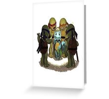 squirtle is a turttle ninja lost Greeting Card