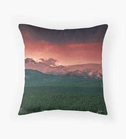 Morning Light on Long's Peak Throw Pillow
