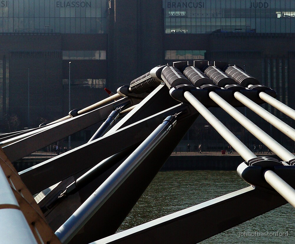 Millennium Footbridge leading to the TATE Modern, London by johnofbastonford