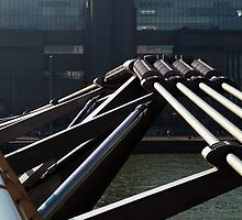Millennium Footbridge leading to the TATE Modern, London by johnofbastonford