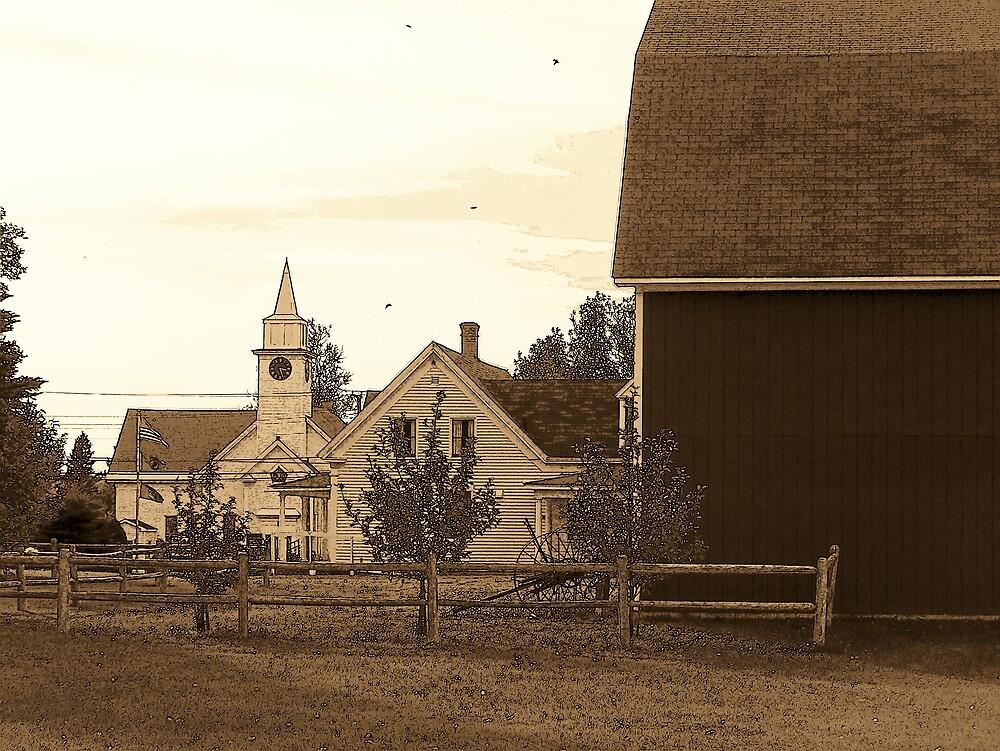 Country Church 2 by Gene Cyr