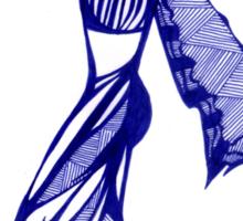 Blue Harem Sticker