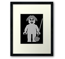 Zombie Minifig, Customize My Minifig Framed Print