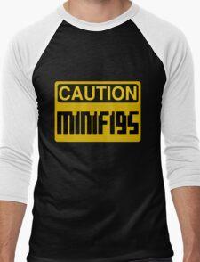 Caution Minifigs Sign Men's Baseball ¾ T-Shirt