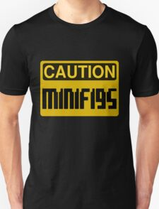 Caution Minifigs Sign T-Shirt