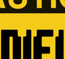 Caution Minifigs Sign Sticker