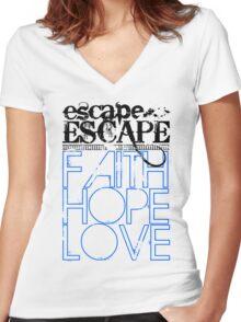 FAITH HOPE LOVE Women's Fitted V-Neck T-Shirt