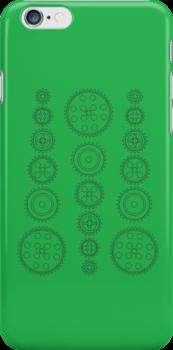 Cog Gear Wheels Pattern by ChilleeW