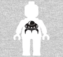 Minifig with Space Invader UFO Logo, Customize My Minifig Kids Clothes