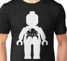 Minifig with Space Invader UFO Logo, Customize My Minifig Unisex T-Shirt