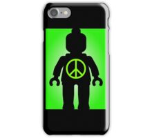 Black Minifig with Peace Symbol, Customize My Minifig iPhone Case/Skin