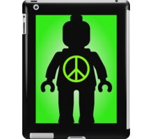 Black Minifig with Peace Symbol, Customize My Minifig iPad Case/Skin