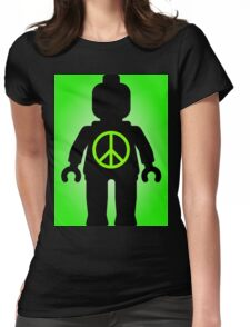 Black Minifig with Peace Symbol, Customize My Minifig T-Shirt