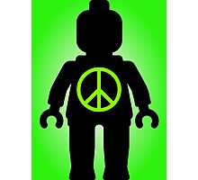 Black Minifig with Peace Symbol, Customize My Minifig Photographic Print