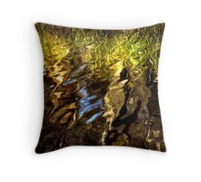 Ripples, reeds, reflections Throw Pillow