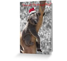 Too much Christmas pudding? Greeting Card