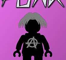 Punk Guitarist Minifig, Customize My Minifig by Customize My Minifig