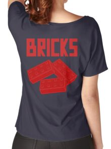 Red Bricks, Customize My Minifig Women's Relaxed Fit T-Shirt