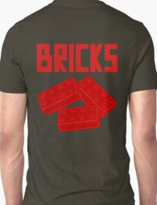 Red Bricks, Customize My Minifig Unisex T-Shirt