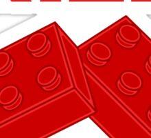 Red Bricks, Customize My Minifig Sticker