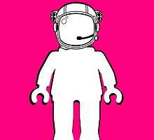 Banksy Style Astronaut Minifig, Customize My Minifig by ChilleeW
