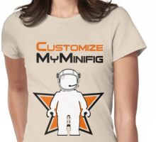 Banksy Style Astronaut Minifig and Customize My Minifig Logo Womens Fitted T-Shirt