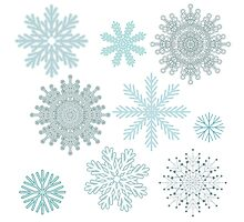 Snowflakes by JuliaBadeeva