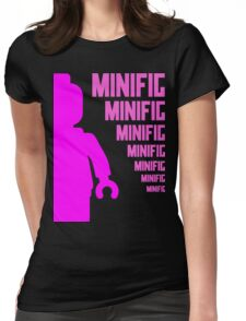 Dark Pink Minifig with MINIFIG text, Customize My Minifig T-Shirt