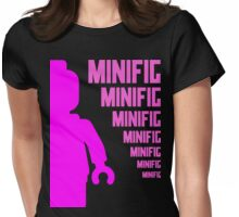 Dark Pink Minifig with MINIFIG text, Customize My Minifig Womens Fitted T-Shirt