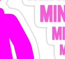 Dark Pink Minifig with MINIFIG text, Customize My Minifig Sticker
