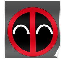 Happy Deadpool Icon  Poster